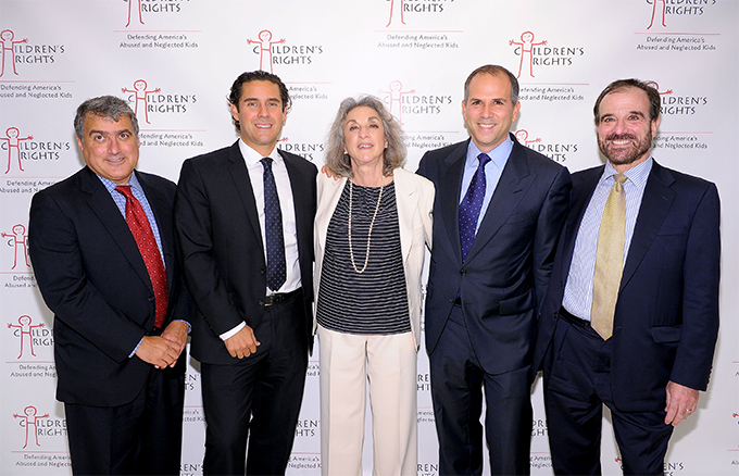 Pictured: Board members Mark Lopez, Jay Galluzzo, Daniel Galpern and Alan Myers with Executive Director Marcia Robinson Lowry