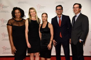 Members of the Children's Rights Young Professional Leadership Council join together at CR's Annual Bene言t Oct. 18 at the Lighthouse at Chelsea Piers. From left to right: Cindy L. Taylor, Maria Vlassenko, Christine Rivera, Samrat Singh, and Jason Bressner.