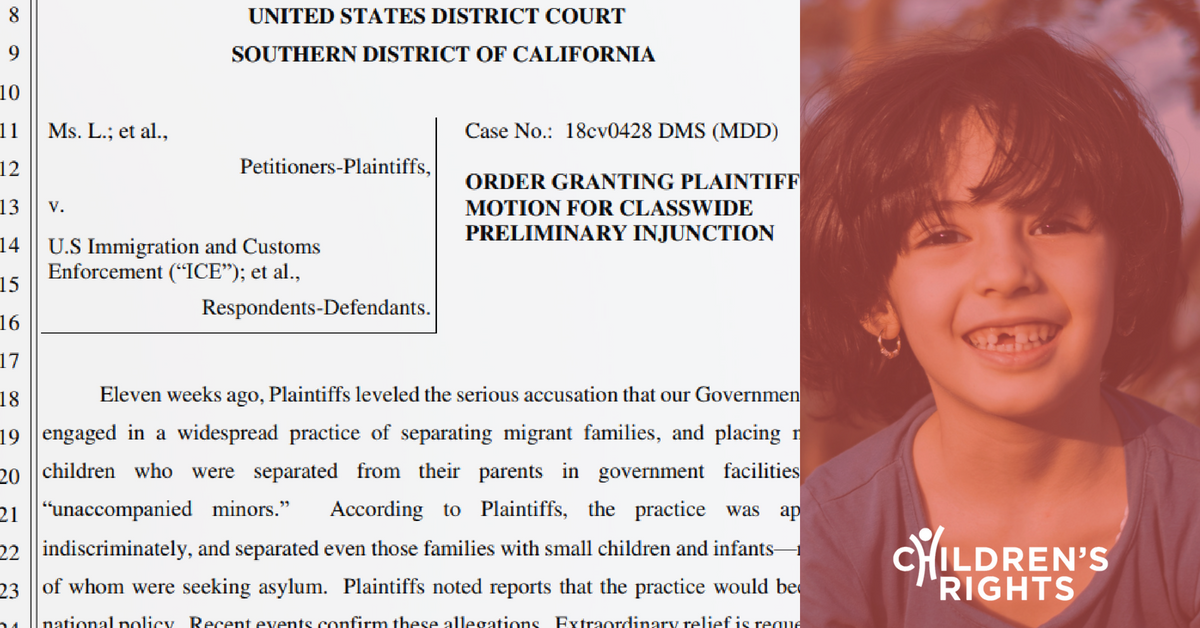 Victory for Kids: Judge Orders Families Must Be Reunited
