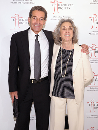 Pictured: Board member James Stanton and Marcia Robinson Lowry