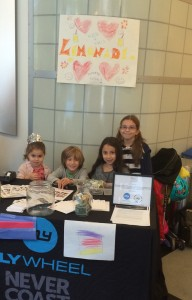 Olivia Galpern, Gavin Galluzzo, Mia Galpern and Isabel Santana helped out at the CR lemonade stand.