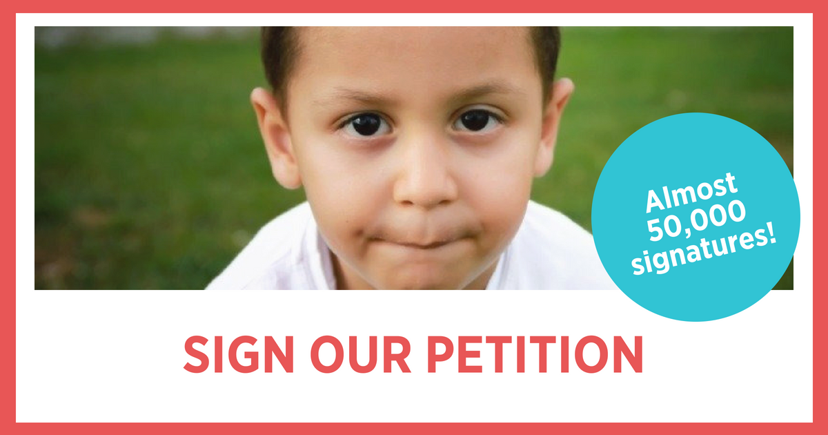 Sign the Petion: Keep Children and Their Families Together!