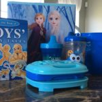 children's books and sippy cups