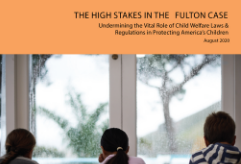 Report cover for the High Stakes in the Fulton Case report